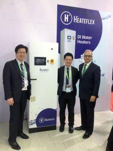 Heateflex CEO Jorge Ramirez with the Aquarius DI Water Heater