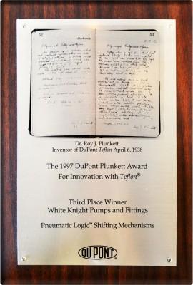 DuPont Plunkett Award for Innovation with Teflon