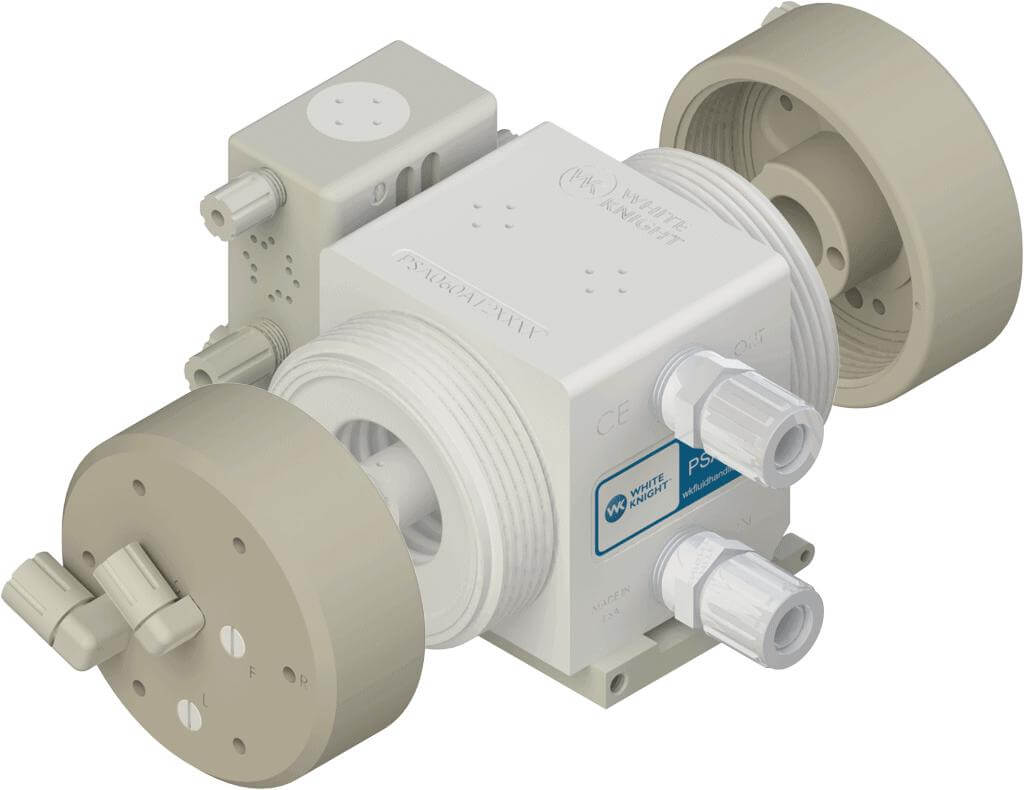 White Knight Buttress Threads on PSA060 High-Purity Pump