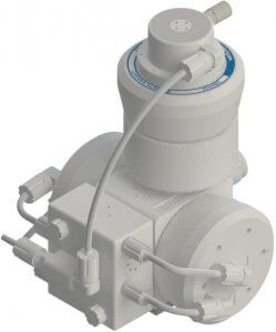 PSH030 Pump with DBH030 Pulse Dampener Top Mounted