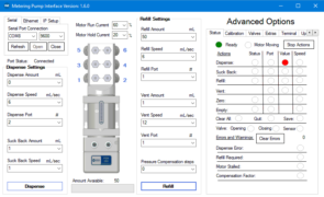 PEM050 Metering Pump Software Interface