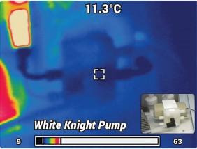White Knight 氣動雙風囊泵热图像
